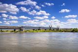 Old railway bridge over Vistula river in Tczew, Poland