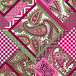seamless patchwork pattern with paisley ornament