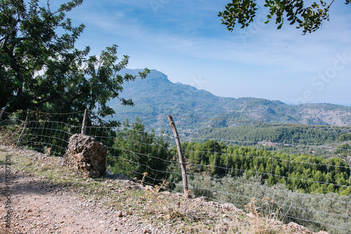 Foto op Aluminium Bleke violet mediterranean mountains against blue sky