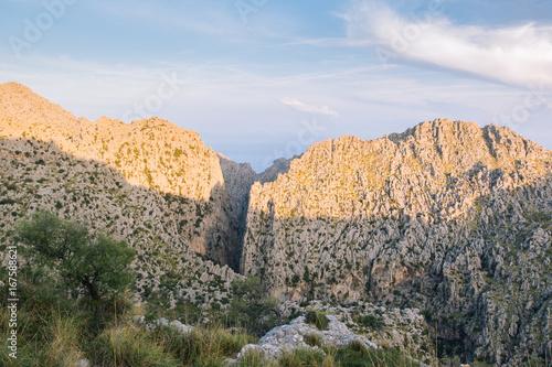 Fridge magnet mediterranean mountains against blue sky