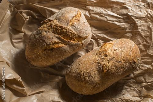 Wall mural Two crispy bread rolls-