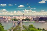 BUDAPEST, HUNGARY- JUNE 05, 2017: City landscape with Szechenyi Chain Bridge