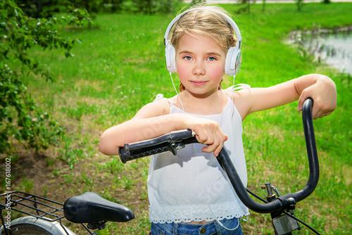 summer girl on bike