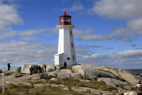 Fotobehang Vuurtoren / Mill Peggy's Cove Lighthouse