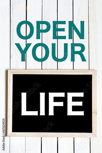 OPEN YOUR LIFE Poster