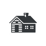 Log cabin icon - 167624696