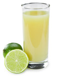 Fresh Lime Juice (isolated on white)