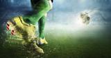 Soccer goal moment. Mixed media - 167644076