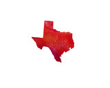 United States Of America. Watercolor texture. Texas. - 167646284