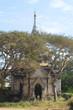 Quadro Ancient Buddhist pagoda among trees on a sunny day. Bagan, Burma