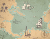 Vintage vector marine map - 167647826