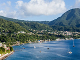 Blue Water and Green Hills of Dominica