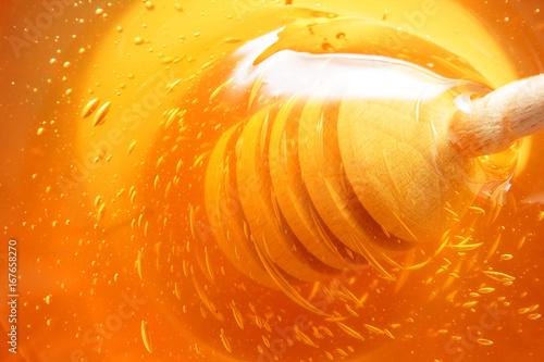 Aluminium Bee honey background
