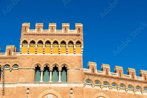 Tuinposter Toscane Palazzo Aldobrandeschi in Piazza Dante in Grosseto, Italy