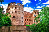 magnificient Schloss Heidelberg - great castles of Germany, popular touristic attraction - 167676432