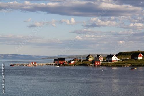 Foto op Canvas Zee zonsondergang Norvège