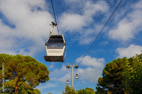 Barcelona. Cable car.