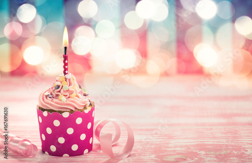 Sticker Birthday cupcake