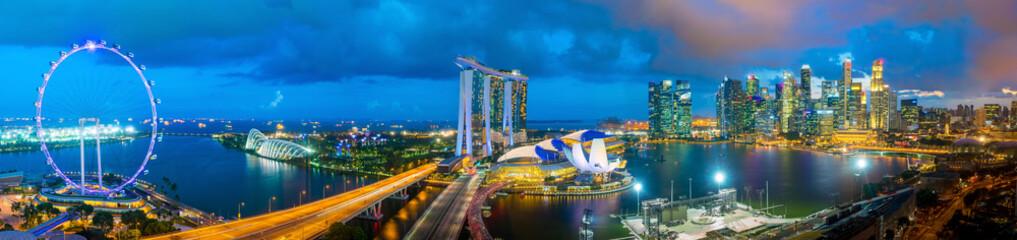 Singapore downtown skyline