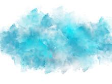 "Постер, картина, фотообои ""Artistic blue watercolor splash effect template"""