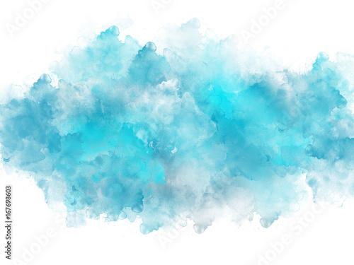 Fototapeta Akwarela artystyczny efekt powitalny niebieski szablon
