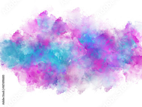 Artistic vivid watercolor splash effect template - 167698680