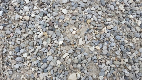 Close up of pebbles on a gravel pathway.