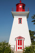 Traditional  Wooden Lighthouse on Prince Edward Island in Canada