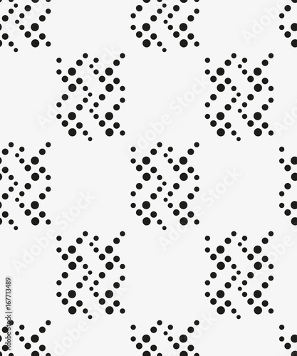 Seamless pattern with geometric shapes and symbols. Vector texture or background pattern. - 167713489