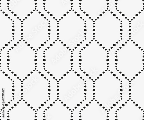 Seamless pattern with geometric shapes and symbols. Vector texture or background pattern. - 167713647