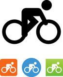 Vector Bike Racer Icon - Illustration