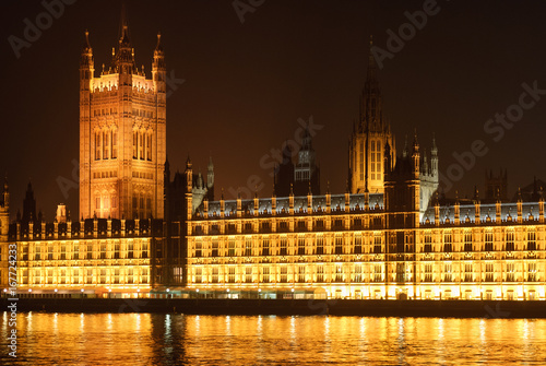 Foto op Canvas Londen View on Palace of Westminsterby by night