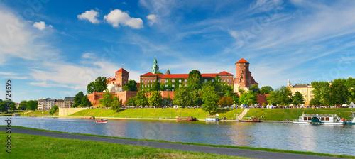 Deurstickers Krakau Wawel castle, Poland