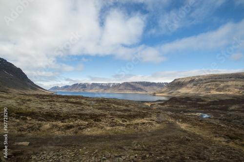 Spoed canvasdoek 2cm dik Blauwe hemel Iceland Landscapes