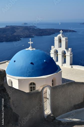 Agios Theodori Church (Saint Theodore) in Firostefani, Santorini, Greece.