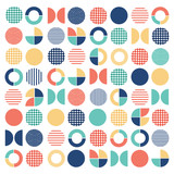 Geometric colorful mixed circle seamless pattern background - 167737608