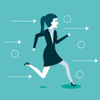 business woman people running to success vector illustration - 167739295
