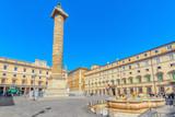 Column of Marcus Aurelius(Colonna di Marco Aurelio) on Square Column. Rome. Italy. - 167743072