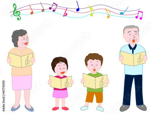 家族で音楽を楽しむ