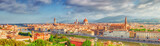Beautiful landscape above, panorama on historical view of the Florence from  Piazzale Michelangelo point. Morning time. - 167743641