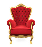 Red Throne Chair Isolated - 167746650