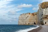 Plage du Tilleul et falaises d 'antifer en normandie
