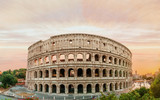 Colosseum panorama at sunset time with marvelous sky. - 167763869