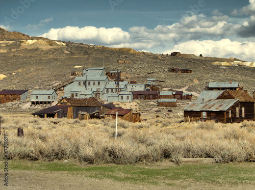 The ghost town of Bodie - California Poster