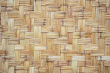 tradition weaving bamboo texture wall as background.
