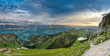 Sonnenuntergang über dem Diemtigtal und Simmental mit Oberstockesee und Hinterstockesee