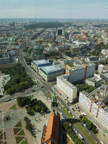 Deurstickers Berlijn Skyline Berlin