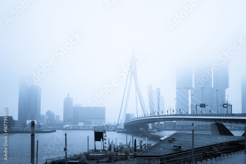 Fotobehang Rotterdam Street view of Port of Rotterdam, the nickname
