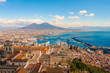 Quadro Naples Cityscape - Stunning panorama with the Mount Vesuvius