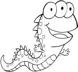 Cute Monster Vector Illustration Art